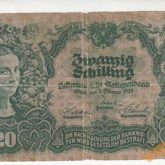 АВСТРИЯ 20 шиллингов 1928 год