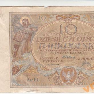 Польша 10 злотых 1929 год