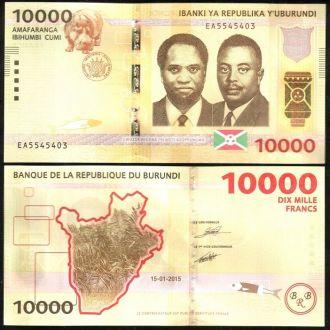Burundi / Бурунди - 10000 Francs 2015 - UNCМиралот