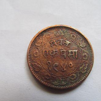 Индия   г. Барода   1   пайса   1883   год