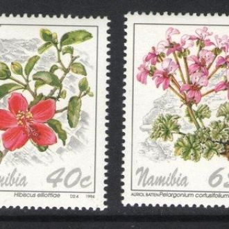 Намибия - цветы 1994 - Michel Nr. 772-775 **