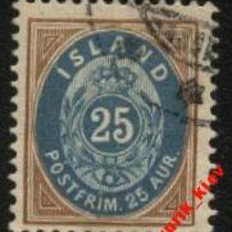 Исландия 1900г № 21 гаш