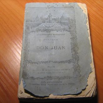1876 г. Дон Жуан Мольер Париж