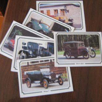 Серия фото цвет ретро Автомобили 1988 СССР 6 шт.
