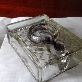 Чернильница стекло 30-е годы из СССР