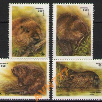 Беларусь 1994 Бобры WWF серия MNH
