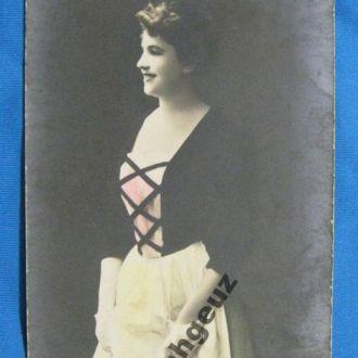 Девушка. цветная. до 1917 г.