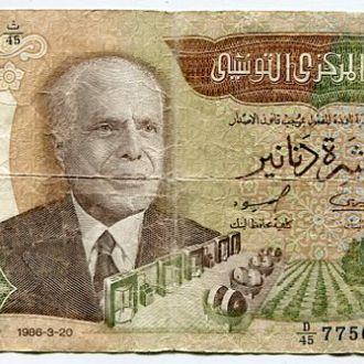 Тунис 10 динар 1986
