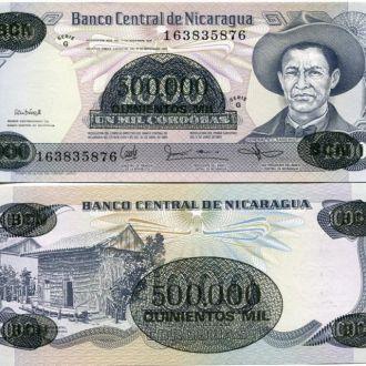 Никарагуа 500.000 кордобас на 1000 UNC пресс
