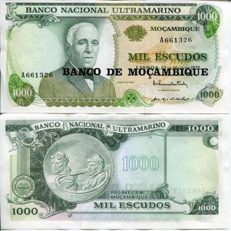 Мозамбик 1000 эскудо  UNC пресс