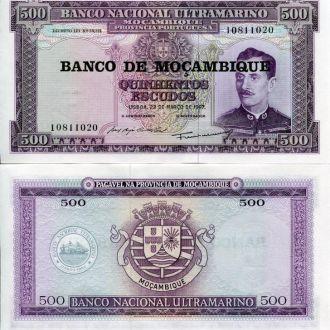 Мозамбик 500 эскудо 1967 UNC пресс