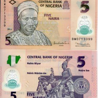 Нигерия 5 найра 2011 UNC пресс