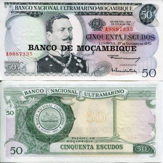 Мозамбик 50 эскудо 1970 UNC пресс