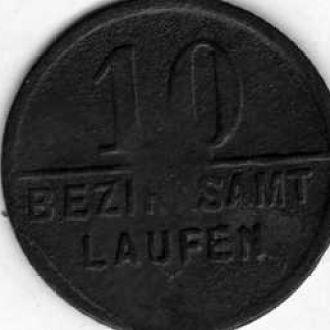 Германия нотгельд 10 пф бг
