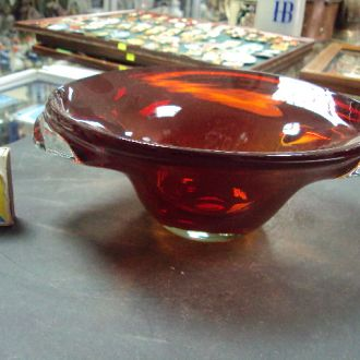 конфетница фруктовница стекло старая (№ 1271)