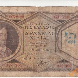 ГРЕЦИЯ 1000 драхм 1944 год