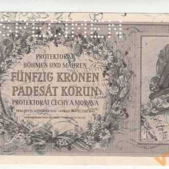 Богемия и Моравия 50 крон 1944 год
