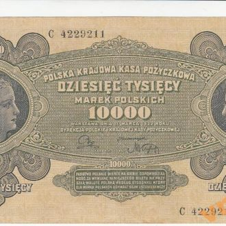 Польша 10000 марок 1922 год СОСТОЯНИЕ