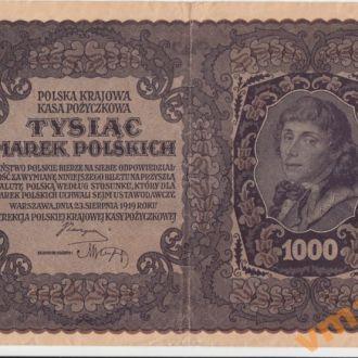 Польша 1000 марок 1919 год