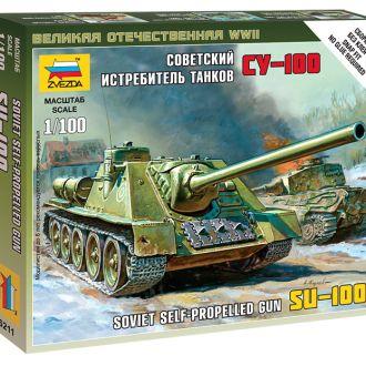 Советская самоходка СУ-100 - Звезда6211