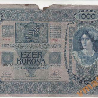 Австро-Венгрия 1000 крон 1902 год без надпечатки