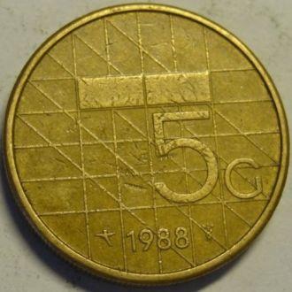 5 гульден 1988 Нидерланды