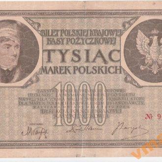 ПОЛЬША 1000 марок 1919 год Ser. E