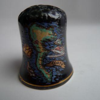Напёрсток, сувенир, фарфор, Англия.