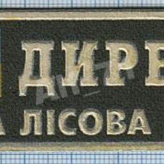 Нашивка Полоска Директор Государственная охрана леса Лісова охорона Украина 1990-е