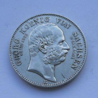 Германия Саксония 2 марки 1904 г Георг Посмертные