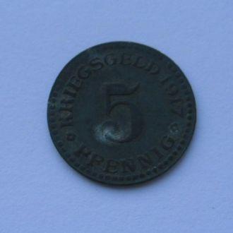 Германия нотгельд 5 пфеннигов  1917 г