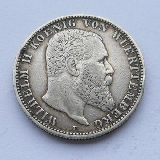 Германия 2 марки 1902 г  Вюртемберг