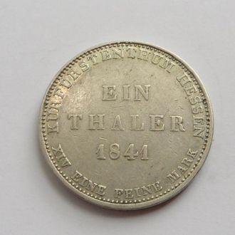 Германия Гессен 1 талер 1841 г