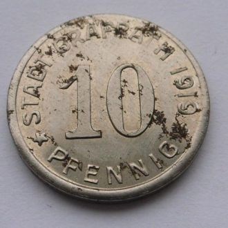 Германия нотгельд 10 пфеннигов 1919 г