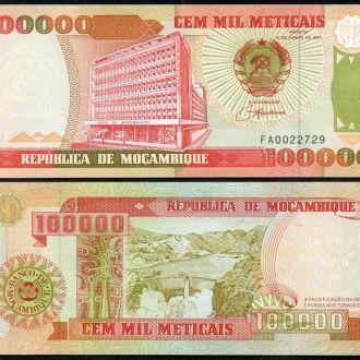 Mozambique / Мозамбик - 100000 Meticais 1993 UNC