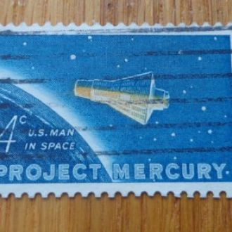 США,1962г. космос - 1 космонавт Джон Глен