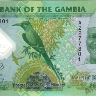 Гамбия 20 Даласи 2014 в UNC