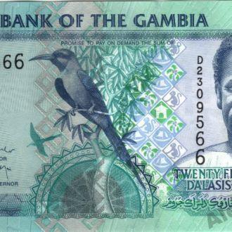 Гамбия 25 Даласи 2006 в UNC из пачки