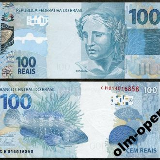 Brazil / Бразилия - 100 Reals 2010 UNC OLM-OPeN