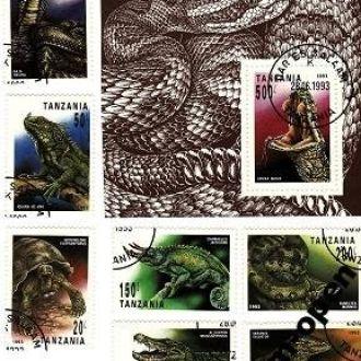Tanzania / Танзания - Рептилии 7м+бл - 1993 - OLM