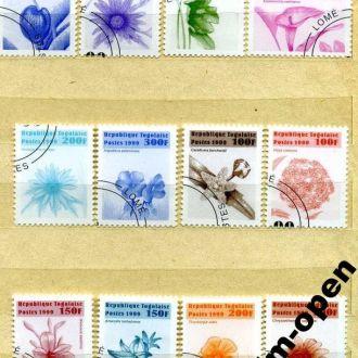 Togo / Того - цветы гашенки 12 st. 1999 - OLM-OPeN