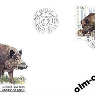 Estonia/ Эстония КПД - Дикая природа Кабан 2002