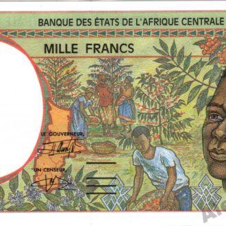 Французское Конго 1000 франков 1993 г.UNC из пачки