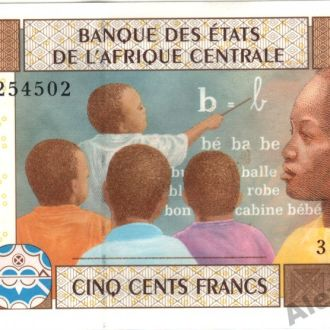 Французское Конго 500 франков 2002 г. UNC из пачки