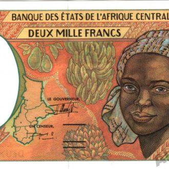 ЦАР 2000 франков 1993 г.UNC из пачки