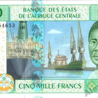 ЦАР 5000 франков 2002 г.UNC из пачки