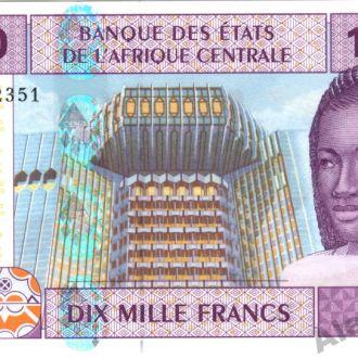 ЦАР 10000 франков 2002 г.UNC из пачки
