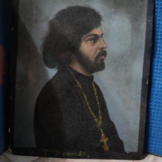 Батюшка,священник, рисунок,портрет,старый