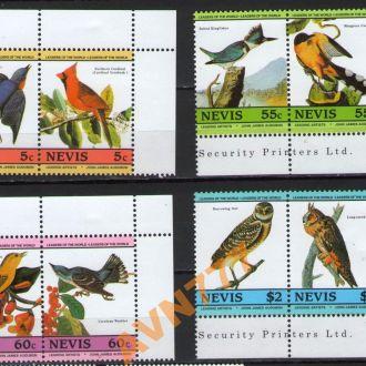 Невис 1985 Птицы Сиалия зимородок совы серия 7е **