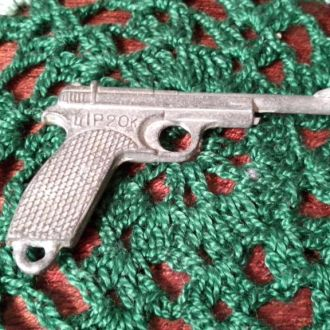Пистолет брелок оловянный периода СССР ц 1р 20к